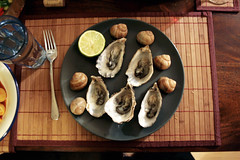 (*superwoman) Tags: vacation paris france dinner december oyster escargot              lasteveninginparis