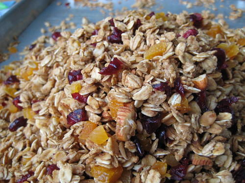 maple-almond granola