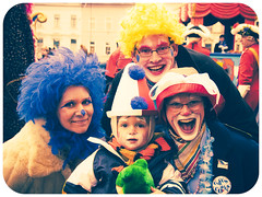 Happy, happy carnival! (manganite) Tags: carnival blue boy red portrait people color men green face hat digital germany hair geotagged fun happy costume kid xpro nikon women funny colorful europe bonn child mask tl framed clown joy makeup posing happiness wig yelow procession d200 nikkor dslr umzug karneval karnevalszug rosenmontag northrhinewestphalia 18200mmf3556 utatafeature manganite nikonstunninggallery repost1 date:month=february date:day=23 date:year=2009 rosenmotagszug geo:lon=7093925 geo:lat=5073349 format:ratio=43
