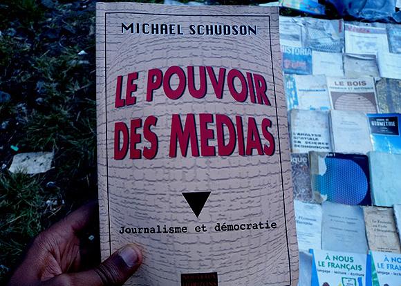 Librairies en plein air à Goma