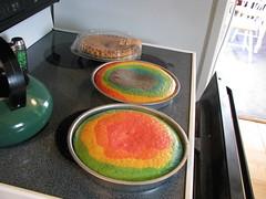 Rainbow Cake Cooked