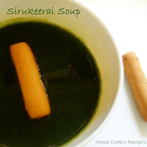 Sirukeerai soup
