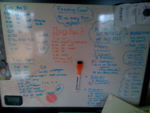Eve's Whiteboard at home