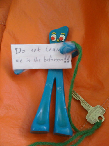 Gumby Bathroom Key - Don't Leave me there