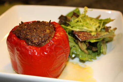 Spiced Lamb Stuffed Sweet Peppers