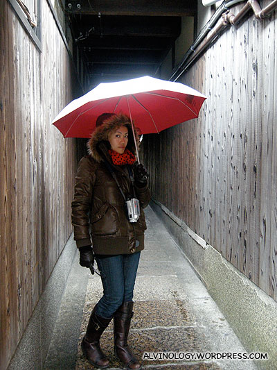 Shiny umbrella