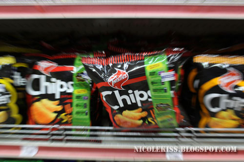 chipsters on shelf