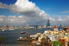 Kaohsiung harbor  (*dans) Tags: harbor taiwan kaohsiung skytower     doulos kaohsiungharbor mvdoulos chijin tuntexskytower 85 cijin 5photosaday