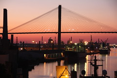 GA - A Real Savannah Sunset (scott185 (the original)) Tags: sunset ga georgia savannah savannahriver eugenetalmadgememorialbridge flickrgolfclub
