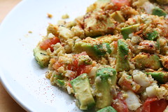 Cod, Avocado, Tomato, Jalapeno, Egg scramble (Dave Lifson) Tags: food macro breakfast tomato dill avocado egg cod jalapeno scramble project365