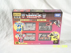 Takara Encore #15 - Big Mission Set, Volume #1 (front) (JTKranix) Tags: eye set one 1 big 15 robots mo