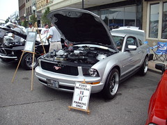 Hot dog Festival, Huntington 2008 (Silver Stang) Tags: mustang carshow freedommustang