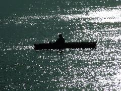 Navegando por un mar de Estrellas (Hector Pace) Tags: water rio mar fisherman agua fuji finepix estrellas olas canoa reflejos pescadores caa contrasol s6500fd hectorpace