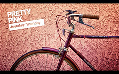 Pretty Pink Monday (isayx3) Tags: pink beach bike speed 35mm vintage three nikon pretty purple retro tuesday handlebar 365 nikkor f18 cruiser reflector huffy d40