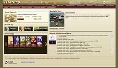 History resource center: World home page