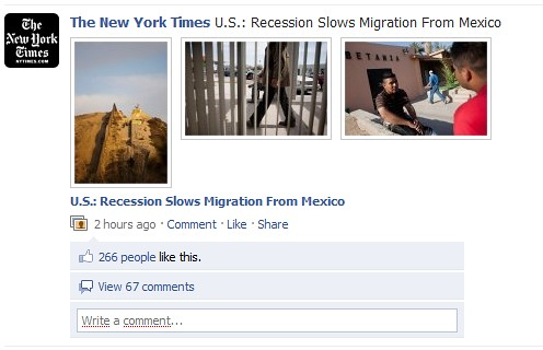 The New York Times poster billeder på Facebook