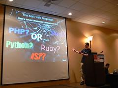 Best language? (skoop) Tags: chicago php python language ruby asp perl phptek tetraboy lolcode tek09
