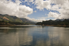 Kundala Lake (alano5678) Tags: sky cloud india lake reflection water station scenery view hill kerala hills munnar kundala