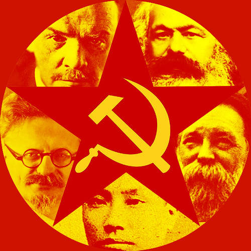 Marxism-leninism red star hammer sickle chinese communist marx engels lenin
