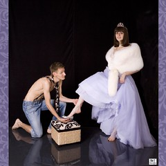 Cinderella Test - Failed! (MissSmile) Tags: portrait girl lady studio fur fun funny princess joke creative royal crown cinderella disillusion a ultimateshot amazingshots goldenphotographer misssmile