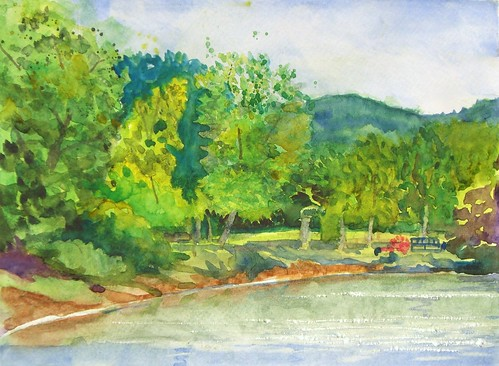 Watercolor Sketch :: Murphy Lake