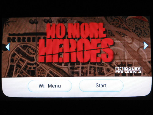 No More Heroes Title Screen