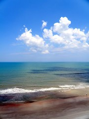 View From Grand Coquina (Chris C. Crowley) Tags: ocean sky sunlight beach clouds sand colorful waves shadows florida priceless scenic bluesky tropical layers centralflorida daytonabeachshores chriscrowley celticsong22 naturalexcellence scenicsnotjustlandscapes onlyhthebestare picsforpeace grandcoquinagetaway viewfromgrandcoquina