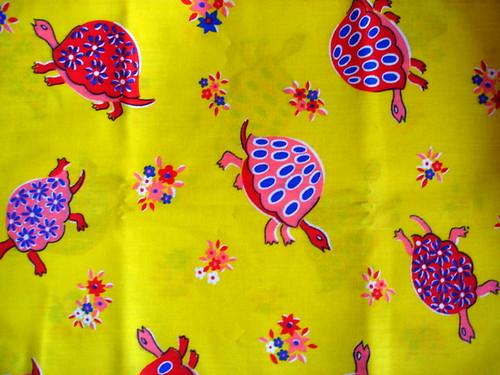 vintage turtle fabric