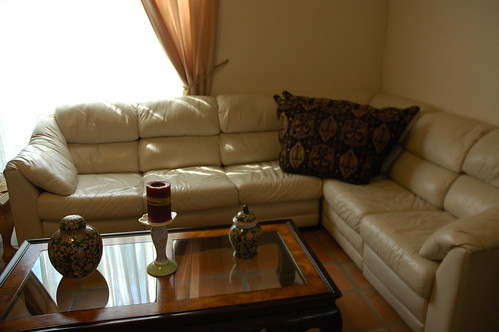 The White Living Room, Leather Sofa and Table, Best Color for a Living Room