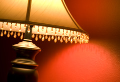 Red Space Lamp (Cliff_Baise) Tags: light red lamp wall crystals jewels