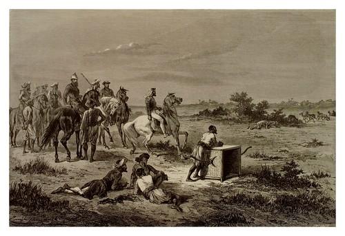004- Caza del antilope con leopardo-La India en palabras e imágenes 1880-1881- © Universitätsbibliothek Heidelberg