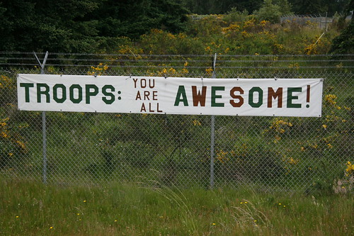 Troops: You are all awesome!