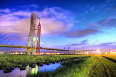 () Tags: bridge blue sunset sky color green water beautiful nikon taiwan   hdr       d90    1685     colourartaward platinumpeaceaward  64