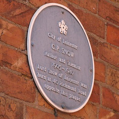 Photo of C. P. Snow blue plaque