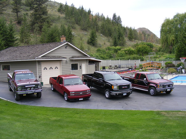 red black britishcolumbia trucks fleet gmc pickups redandblack chev