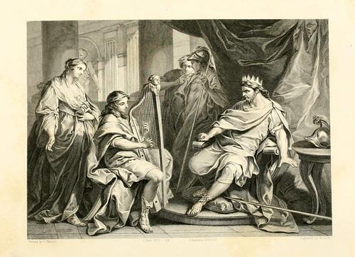 002- David toca el arpa a Saul- C. Van Loo