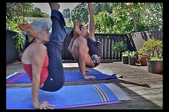 Lucy & Matt (yogasurf) Tags: yoga matt hawaii lucy mother son maui practice asana ashtanga yogasurf