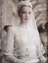 Grace Kelly on her Wedding Day, 19th April, 1956
