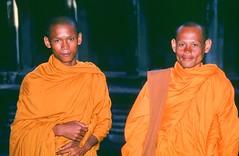 Young Monks, Angkor Wat, Cambodia, 2001