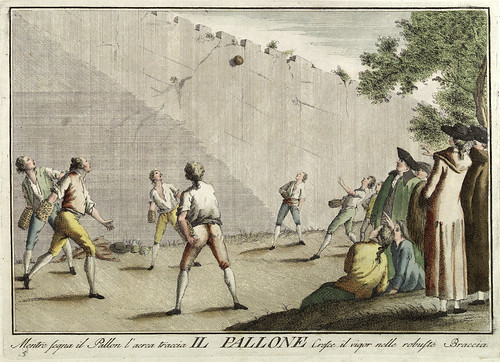 003-El balon- Giuochi Trattenimenti e Feste Annue Che si Costumano in Toscana 1790- Giuseppe Piattoli