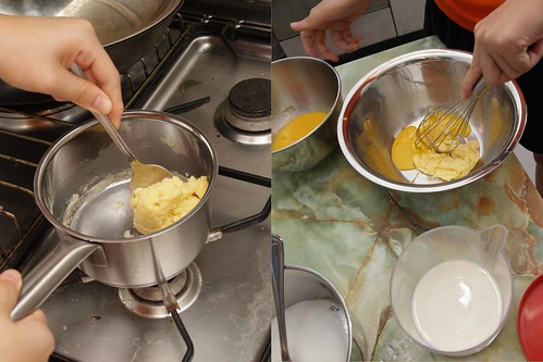 Cooking flour with butter