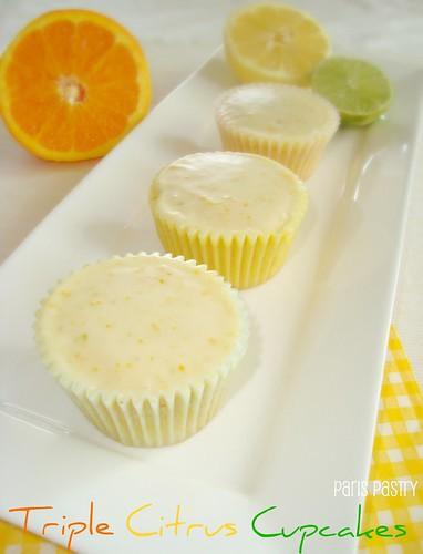 Triple Citrus Cupcakes