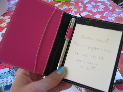 Pink handbag notebook