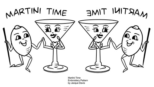 Martini Time free embroidery transfer pattern by davis.jacque.