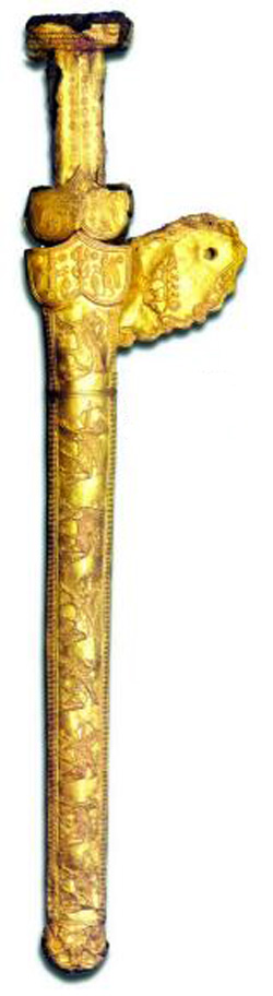 короткий скифский меч акинак