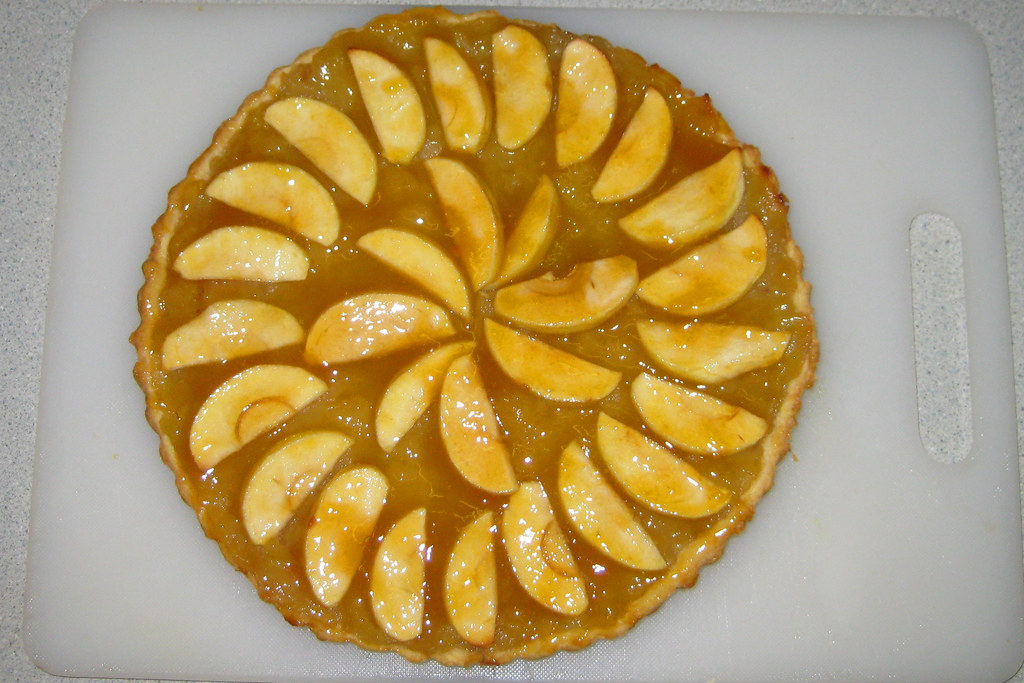 Apple Flan Tart
