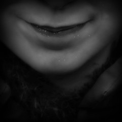 Smiling heart (Christine Lebrasseur) Tags: portrait people blackandwhite france art 6x6 smile canon mouth child heart disneyland lips 500x500 lane allrightsreservedchristinelebrasseur