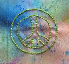Embroidered peace sign