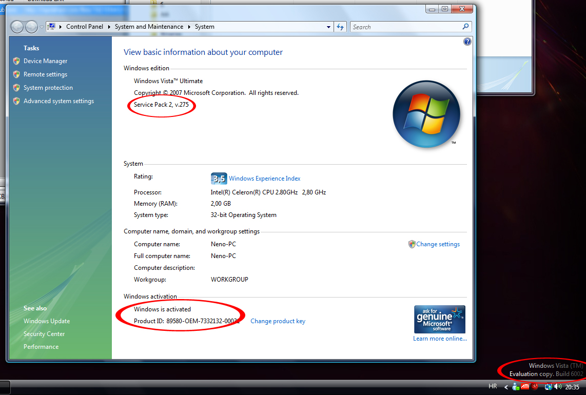 Windows vista activator sp2