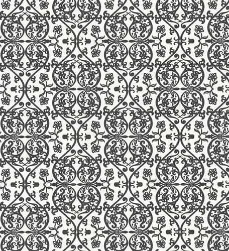 black and white damask background. retro lack and white damask